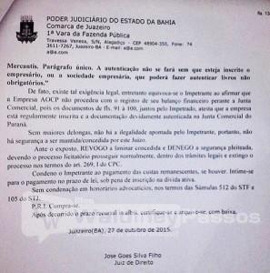 Justiça libera concurso publico em Juazeiro.BA