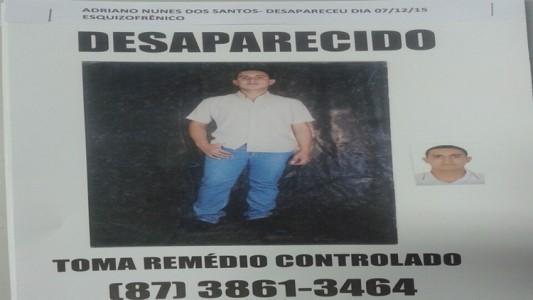 Adriano desaparecido