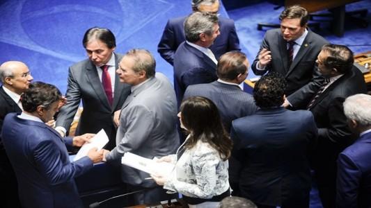 Senadores reunidos