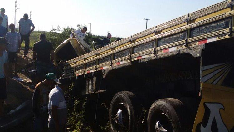 Caminhão vira BR 428 02