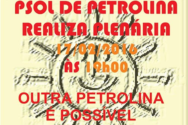 PLENÁRIA PSOL 17.02.16 ok