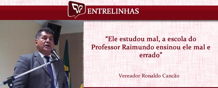 Ronaldo Cancão sobre Ednaldo