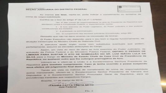 Suspensão de posse Lula