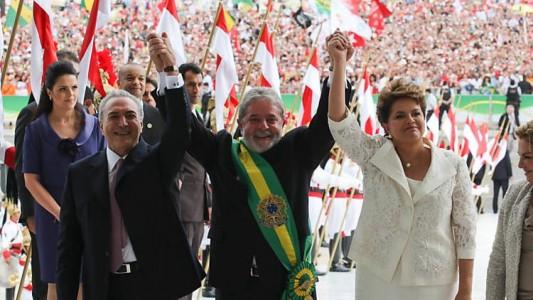 Michel Temer, Lula e Dilma