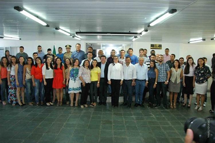 Novos servidores atuarão em vários setores da administração municipal/Foto: divulgação Prefeitura