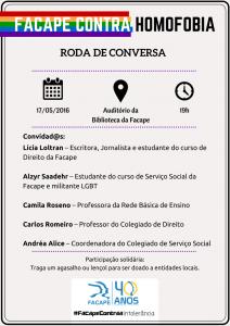 Cartaz evento contra a homofobia