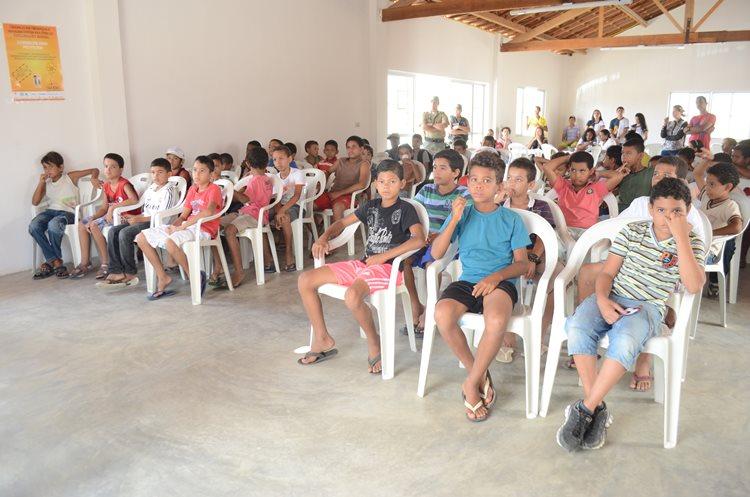 Garotada já na expectativa de começarem as atividades esportivas/Foto:Portal da Prefeitura