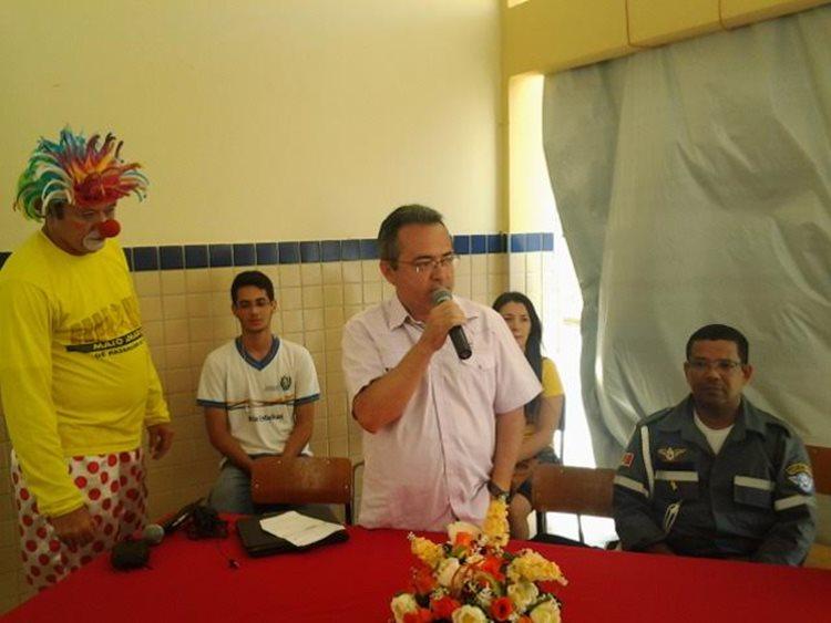 Paulo Valgueiro, servidor da Autarquia, destacou a importância das estratégias que devem ser consideradas para o cidadão ter um trânsito seguro/Foto:ASCOM