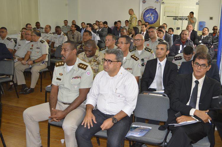 Evento contou com a presença da cúpula das Polícias Militar, Civil, Técnica e Bombeiros/Foto: ASCOM