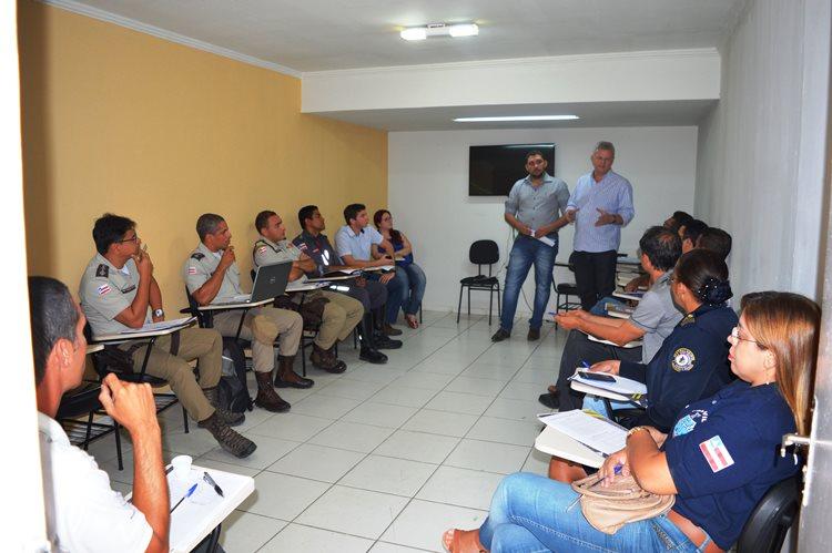 Órgãos de segurança estiveram reunidos com representantes da prefeitura de Juazeiro para definir percurso da Tocha Olímpica/Foto: ASCOM