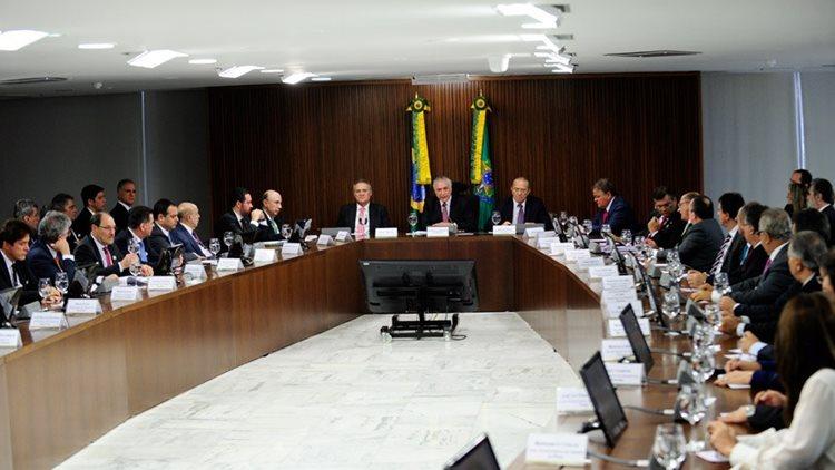 Michel Temer e governadores