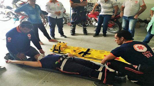 Treinamento da equipe de socorrista do SAMU (Foto: ASCOM)