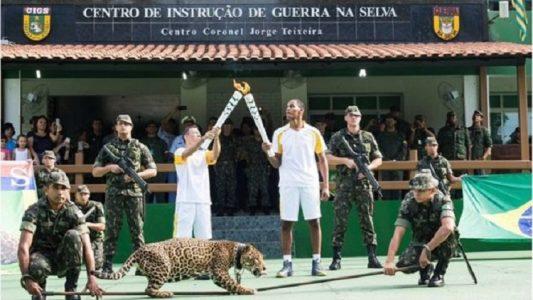 A onça Simba também participou da cerimônia (Foto: Exército Brasileiro)