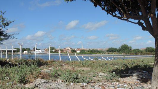 Lagoa de estabilização. (Foto: Waldiney Filho)