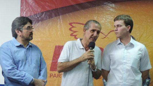 Pérsio Antunes, Coronel Leite e Miguel Coelho, da esquerda para direita. (Foto: Waldiney Filho)