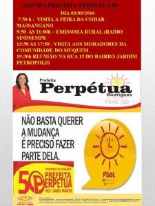 AGENDA PSOL 50. DIA 03-09