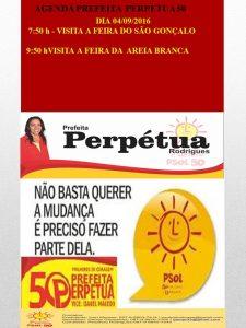 AGENDA PSOL 50. DIA 04-09