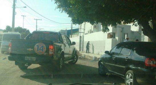 Adalberto é encaminhado a PF para prestar esclarecimentos./ Foto: via Whats APP