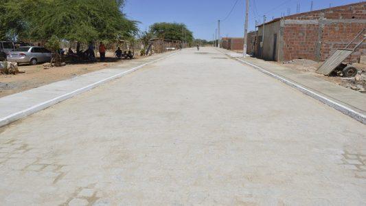Rua pavimentada em Juazeiro. (Foto: ASCOM)