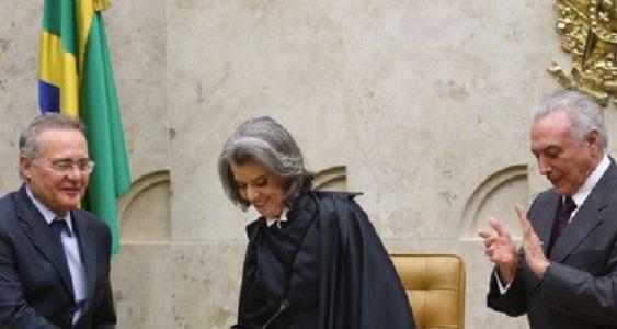 """A ministra quebrou o protocolo e começou seu discurso dirigindo-se aos cidadãos brasileiros, a quem chamou de """"autoridade suprema sobre todos nós, servidores públicos""""./ Foto: internet"""