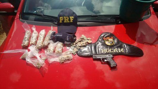 O veículo foi roubado nesta terça-feira em uma cidade baiana./ Foto: PMPE