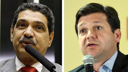 O ex-prefeito João Paulo Lima (PT) e o prefeito e candidato à reeleição em Recife pelo PSB, Geraldo Júlio (à dir.) (Foto: Folha de SP)