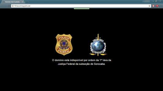 Imagem que aparece ao tentar acessar os sites bloqueados. (Foto: Internet)