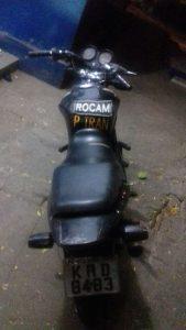 Moto foi a mesma que furou um bloqueio na segunda-feira./ Foto: divulgação PMPE