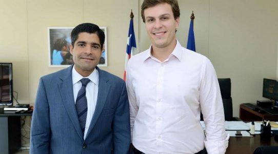 Miguel se reuniu com o prefeito de Salvador para conhecer projetos lá implantados (Foto: divulgação)