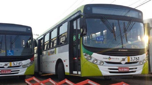 Ônibus apreendidos da empresa Viva Petrolina (Foto: Aracelly Romão/ TV Grande Rio)